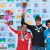 Haiyang, China Boulder Men's podium: Sean McColl, Jan Hojer, Guillaume Glairon Mondet