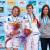 Haiyang, Cina Speed podio femminile: Iuliia Kaplina, Mariia Krasavina, Anouck Jaubert