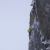 Marc-Andre Leclerc sul primo tiro di The Plum (WI6 M7, 120m, Marc-Andre Leclerc, Jon Walsh 08/11/2014),  Storm Creek Headwall, Kootenay National Park, Canada.