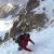 Davide Capozzi e Julien Herry il 13/04/2015 durante la discesa del Couloir Nord - Ovest della parete nord del Monte Emilius, Valle d'Aosta.