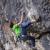 November 2008. Adam Ondra during the second ascent of Open Air, 9a+, Schleierwasserfall, Austria.