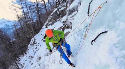 Ice climbing basics video: ice screw placement, anchors and V-threads