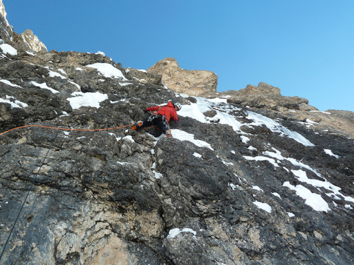 Edle Mischung, new winter climb up Ciampanil Mufreit in the Dolomites