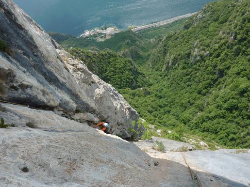 La parete del Forcellino e la via Panzeri-Riva. Di Ivo Ferrari