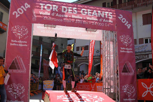 Franco Collé wins the Tor des Géants 2014