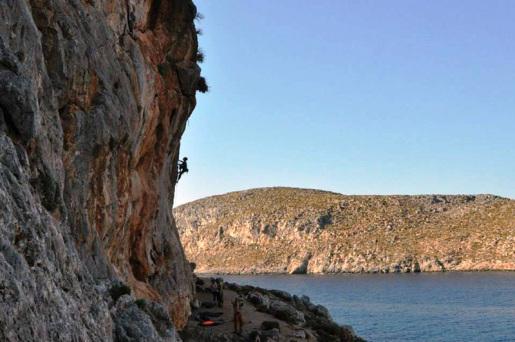 Kalymnos, climbing on the island of Neverland