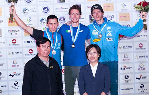 Stefano Ghisolfi wins China stage of Lead World Cup with Mina Markovic