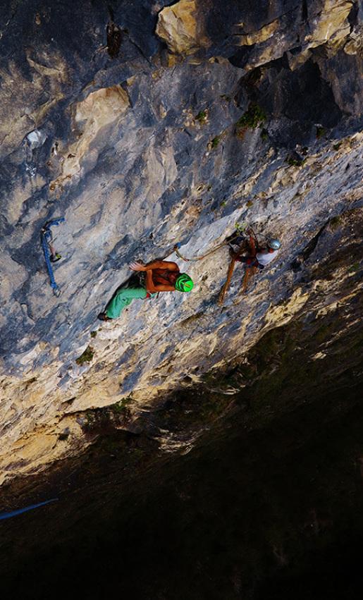 L'ultimo dei selvaggi, new rock climb in Italy's Valsugana