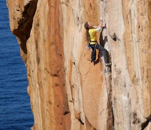 Augmentium, the hardest trad climb in Tasmania