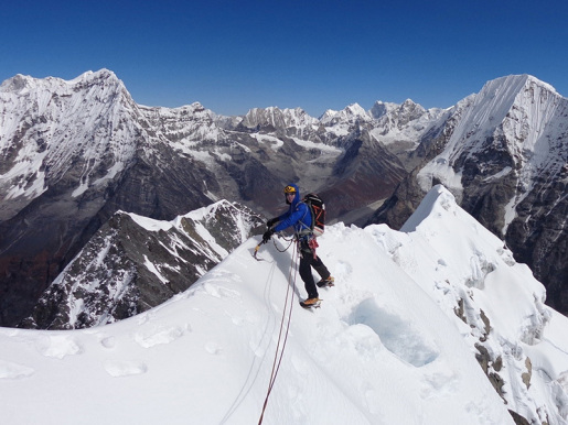 Chugimago West Face first ascent by Domen Kastelic and Sam Hennessey