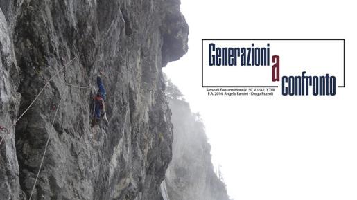 Generazioni a Confronto, nuova via in artificiale per Pezzoli e Fantini sul Sasso di Fontana Mora