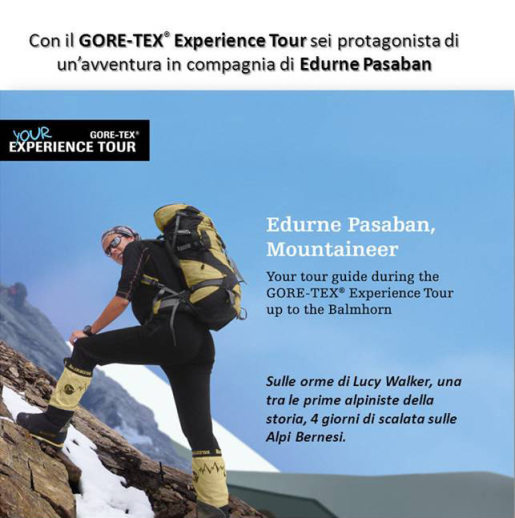 GORE-TEX Experience Tour: follow Edurne Pasaban in the footsteps of Lucy Walker to the summit of Balmhorn