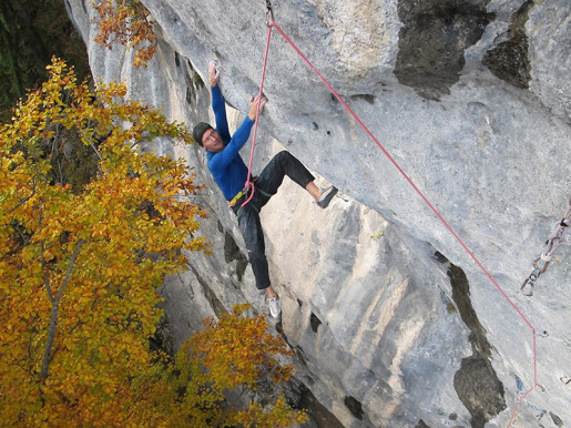 Toni Lamprecht makes first ascent of Black Flag 8c+/9a at Rockywand in Germany