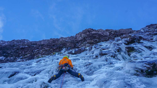 Greg Boswell and Guy Robertson make onsight first ascent of The Greatest Show On Earth in Scotland