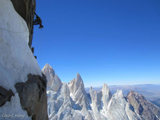 Colin Haley and Marc-Andre Leclerc climb Travesia del Oso Buda in Patagonia