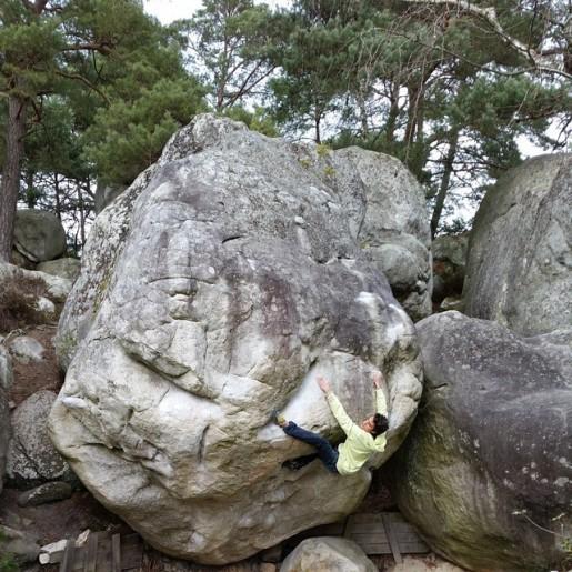 Niccolò Ceria bouldering 60 days at Fontainebleau