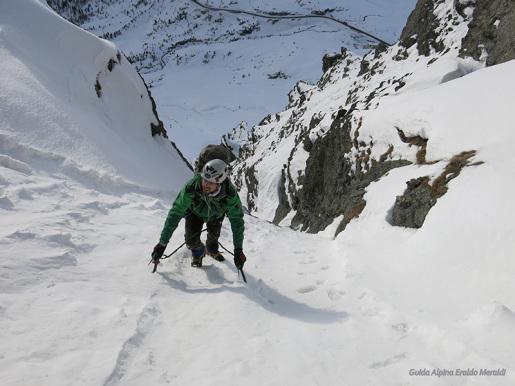 Dossaccio, alpinismo invernale in Alta Valtellina