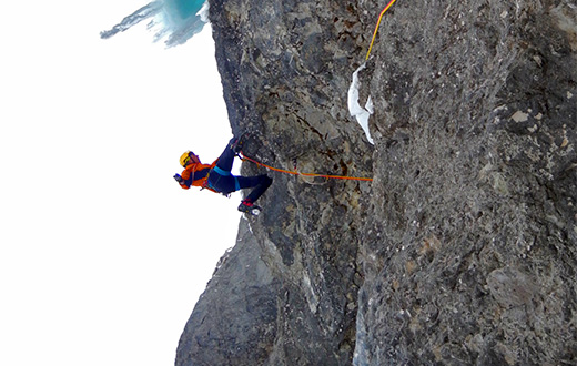 Dejan Koren climbs three new routes at Forcella Lavina