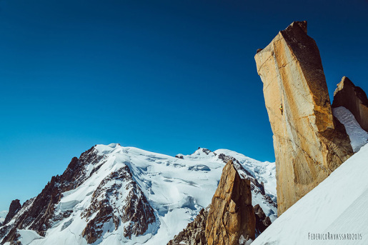 Federica Mingolla climbs Digital Crack on Mont Blanc
