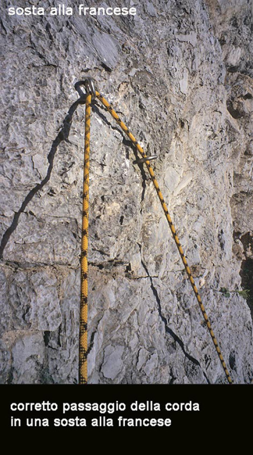 French belays on sea cliffs, lower off advice for sport climbing