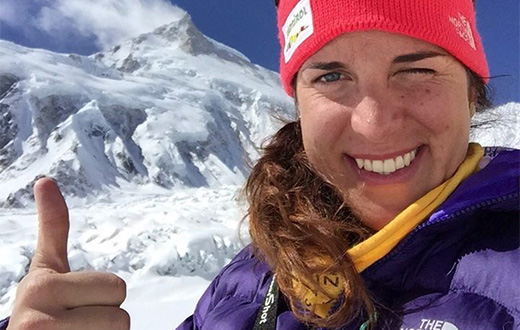 Tamara Lunger at Passione Verticale in Courmayeur