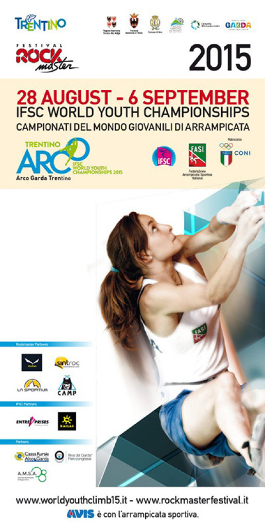 The program of the IFSC Climbing World Youth Championships at Arco