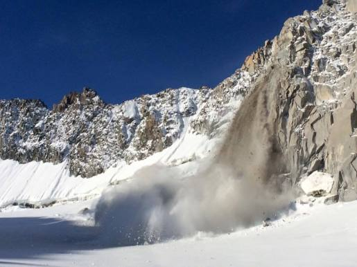 Huge rockfall on Tour Ronde, Mont Blanc