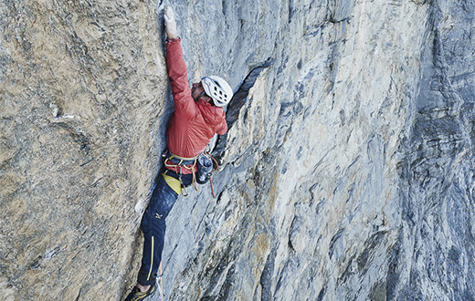 Odyssee, the hardest route on the Eiger North Face by Roger Schaeli, Robert Jasper and Simon Gietl