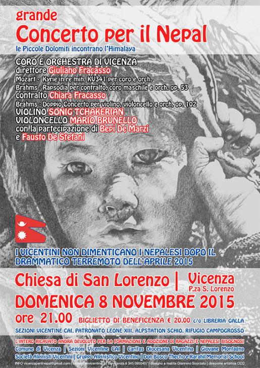 Grande Concerto per il Nepal a Vicenza