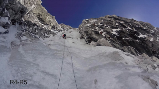 Talung NNW Spur climbed by Nikita Balabanov and Mikhail Fomin
