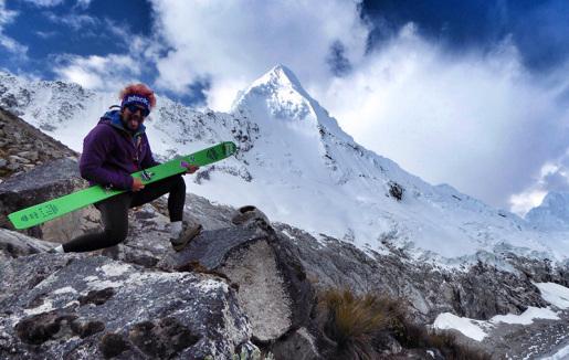 Enrico Mosetti e lo sci nella Cordillera Blanca in Perù