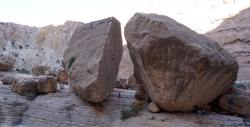 Oman sport climbing gems discovered by Petit, Macadam, Ruscior