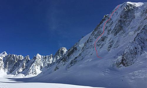 Les Courtes Austrian route skied by Boissenot, Roguet, Brunel and Gentet