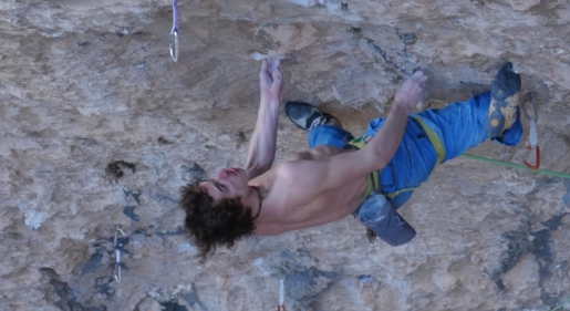Climbing video: Adam Ondra attempting Stoking the Fire at Santa Linya in Spain