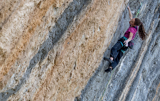 Kajsa Rosén and her perfect climbing state of mind at Oliana