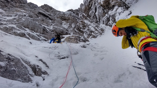 New mixed climb on Monte Cogliàns, Carnic Alps