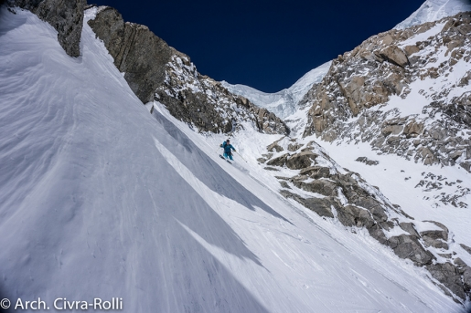 Mont Blanc Major Route: ski descent by Luca Rolli and Francesco Civra Dano