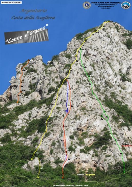 Monte Argentario - via dello Spigolo (Canne d'organo)