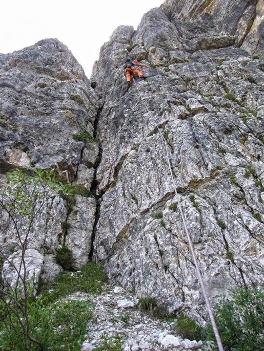 Arrampicata: nuovo settore alla Crepa Toronda del Monte Pelmo in Dolomiti