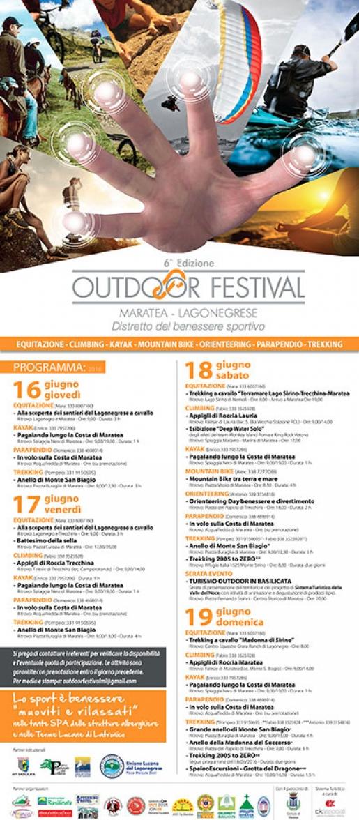Outdoor Festival Maratea-Lagonegrese 2016