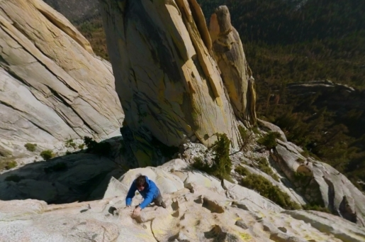 Alex Honnold climbing at The Needles