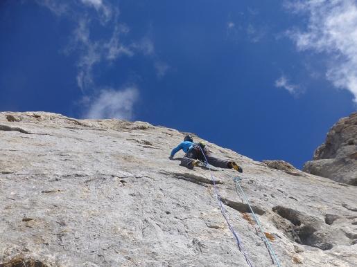 Torre del Formenton, new rock climb at Passo di San Pellegrino, Dolomites