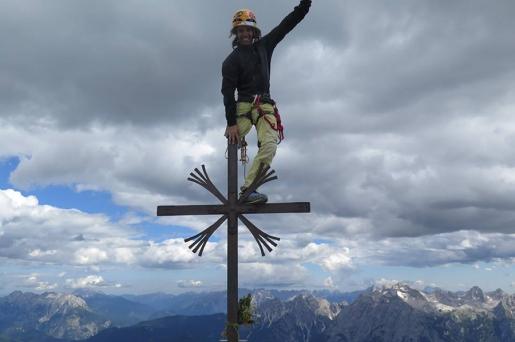 Urko Carmona Barandiaran climbs Cima Grande di Lavaredo, Dolomites