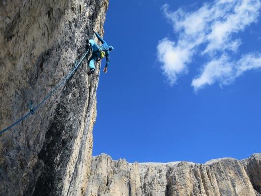 Bramosa Scura, new rock climb in Sella group, Dolomites