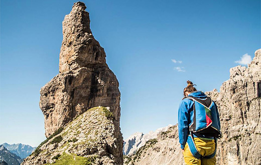 Campanile di Val Montanaia first BASE Jump by Marco Milanese