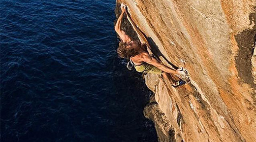 Chris Sharma climbs hard new DWS at Mallorca