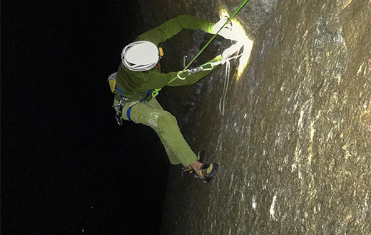 Adam Ondra sees first light on Dawn Wall in Yosemite