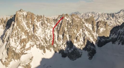 Pointe de la Fouly, new ski descent in Mont Blanc massif