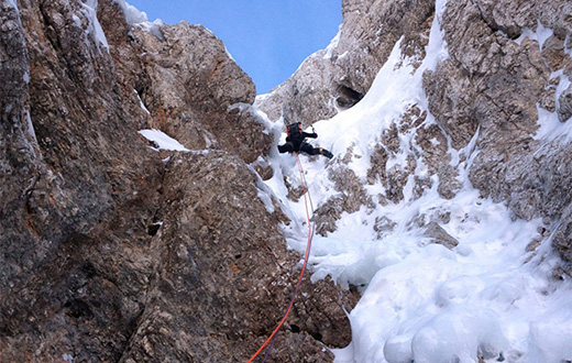 Škrlatica in Slovenia sees first winter ascents by Matej Arh and Klemen Gerbec