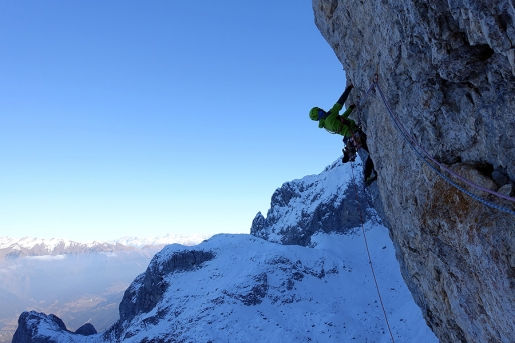 Presolana: Natali and Panseri pull off important first winter ascent in Bergamasque Prealps